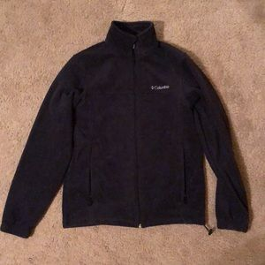 Black Columbia zip up fleece jacket size small